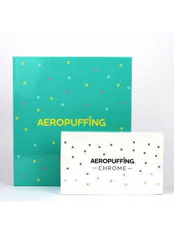 Aeropuffing Nail Kit Набор для дизайна ногтей + набор CHROME (10 шт. металлизрованных оттенков паст)