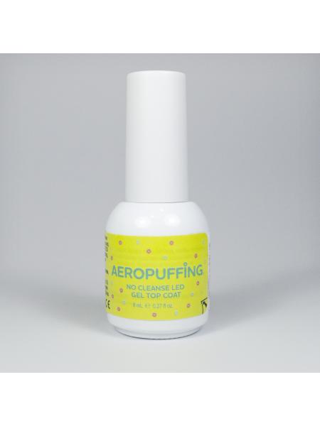 Aeropuffing No Cleanse LED Gel Top Coat  - глянцевый топ без липкого слоя, 8 мл.