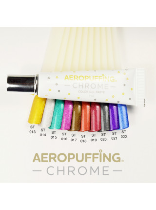 Aeropuffing CHROME 10 pc. Color Gel Paste Kit - набор металлизированных гель-паст