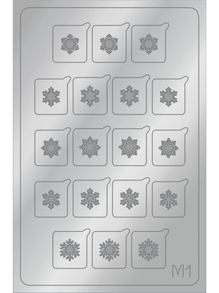 Aeropuffing Metalliс Slider, M01s - металлизированная наклейка
