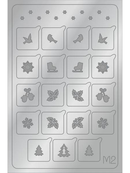 Aeropuffing Metalliс Slider, M02s - металлизированная наклейка